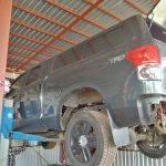 Toyota tundra, remont, odbudowa, cynkowanie ramy